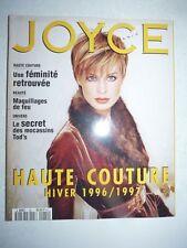 Magazine Revue de mode JOYCE PARIS #60 septembre 1996 haute couture hiver 96/97