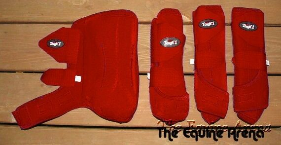 Horse Horse Horse Prossoective Sport stivali - Extreme Vented  - Fronts & Rears - rosso - Medium 7ba6d5