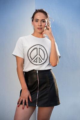 Womens Fashion T-shirt Pace Firmare Spruzzato Estate Hippy Music Love Estate Hipster-mostra Il Titolo Originale