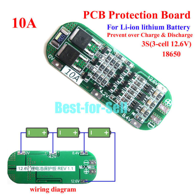 3s 10a Li-ion Lithium Battery BMS 18650 Charger Protection PCB Board Columbia Par Car Wiring Diagram Ex on