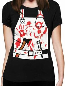 9a0478b3b38d3 Details about Bloody Nurse / Doctor Zombie Halloween Costume Women T-Shirt  Funny