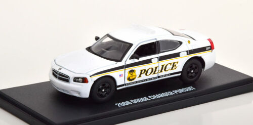 1:43 GreenLight Dodge Charger Pursuit usss Police 2006 White//Black