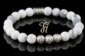 Howlith-Armband-Bracelet-Perlenarmband-Silber-Beads-Buddha-weiss-matt-8mm