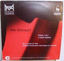 ALAIN BANCQUART ELECTRONIC-ONDES MARTENOT LP MICROTONAL-JULIAN CARRILLO-AVANT!!!