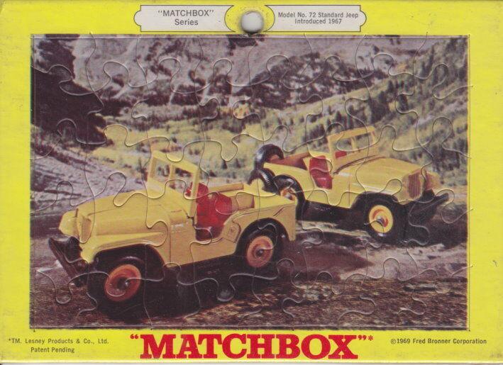 Matchbox RW PUZZLE Nº 72b Standard Jeep 1969 USA