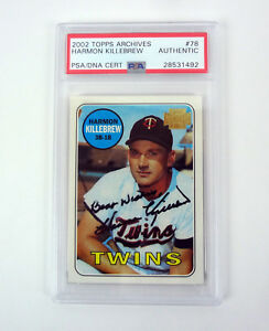 Harmon-Killebrew-2002-Topps-Archives-Signed-Autograph-Card-Slabbed-PSA-DNA-COA