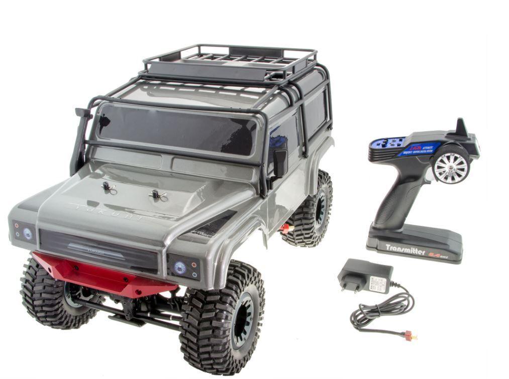 RC Crawler yakubi Sakai Alu M 1 10 2,4 GHz Batteria e Caricatore 45cm argentoo Nuovo