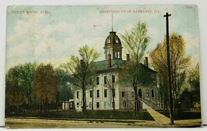 Kankakee-Illinois-Greetings-from-the-Court-House-1908-to-Harlem-Ill-Postcard-I5
