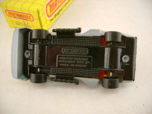 1983 Matchbox Superfast #17 Bernstein Wind 9 Amx Pro Stocker Schwarz Sockel /&