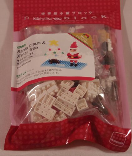 Kawada Nanoblock Santa Claus and Christmas Tree 2013 japan toys NBC-099 LTD