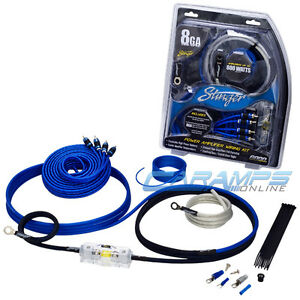 new stinger 800 watts 8 awg gauge car amp install wiring kit with rh ebay com