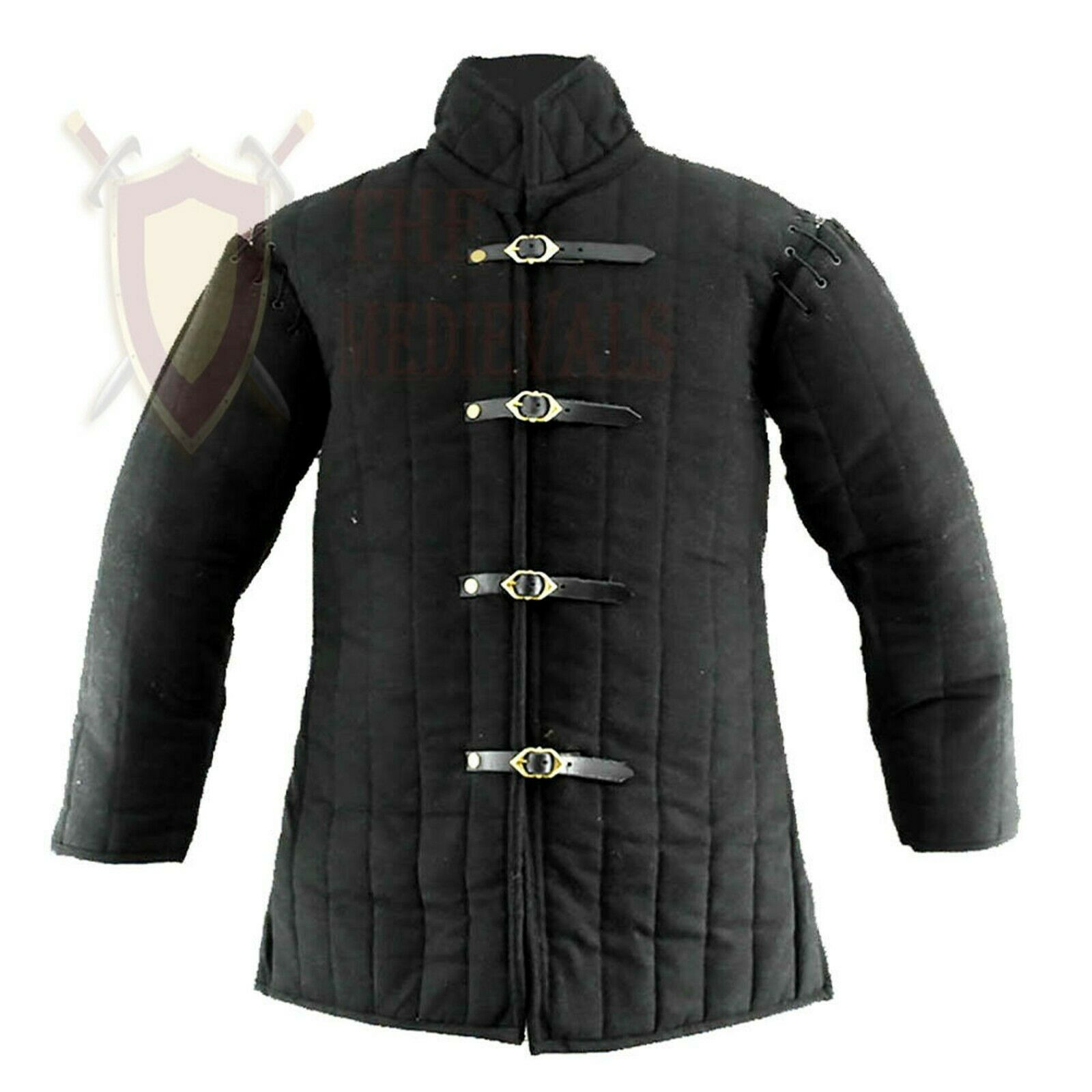 THE MEDIEVALS Gambeson Coat Aketon Thick Padded Full Sleeve Jacket Armor Costume
