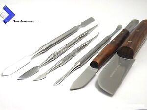 Dental-Plaster-Knife-Fahen-Cement-Spatula-Zahle-Beale-Lecron-Laboratory-Kit