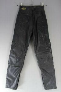 DANNISPORT-BLACK-COWHIDE-LEATHER-BIKER-TROUSERS-WAIST-26-IN-INSIDE-LEG-30-IN