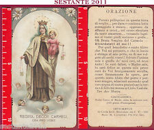 3314 SANTINO HOLY CARD REGINA DECOR CARMELI  ORA PRO NOBIS MEDIOLANI CAVEZZALI