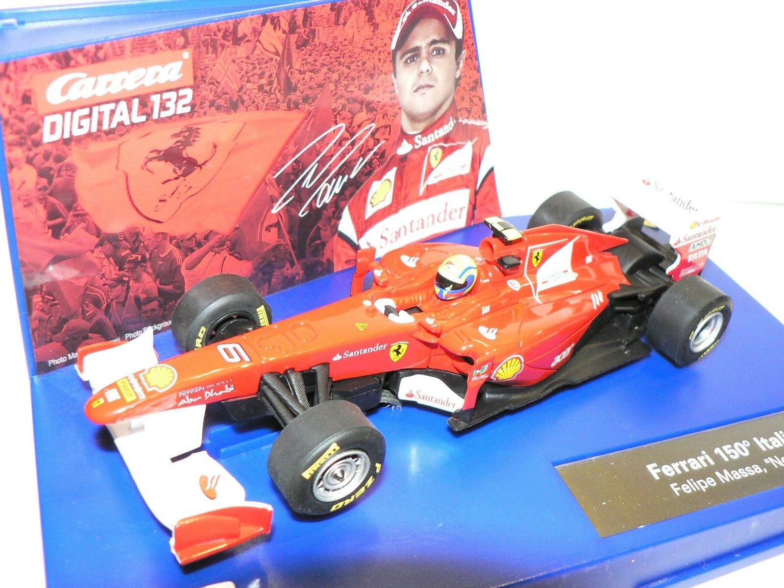 Carrera Digital132 30627 Ferrari 150 Italia Felipe Massa No. 6 New