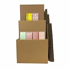Uoffice Moving Kit 1 10 Smallmediumlarge Combo Boxes With Room Labels
