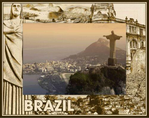 Brazil Laser Engraved Wood Picture Frame 5 x 7