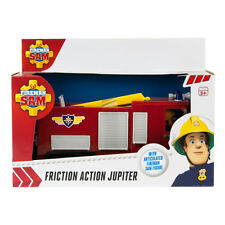 Fireman Sam Friction Action Jupiter Fire Engine Truck + Large Sam Figure Toy NEW