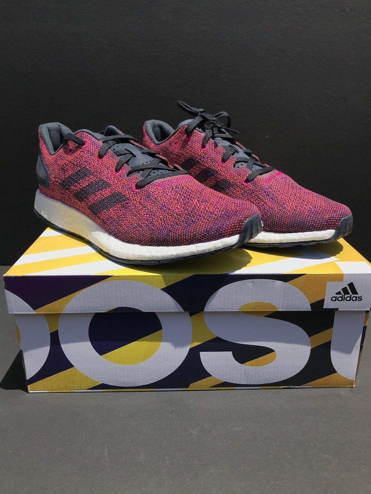 New Adidas PureBOOST DPR LTD CG2995 Mens Berry Navy shoes Size 8.5