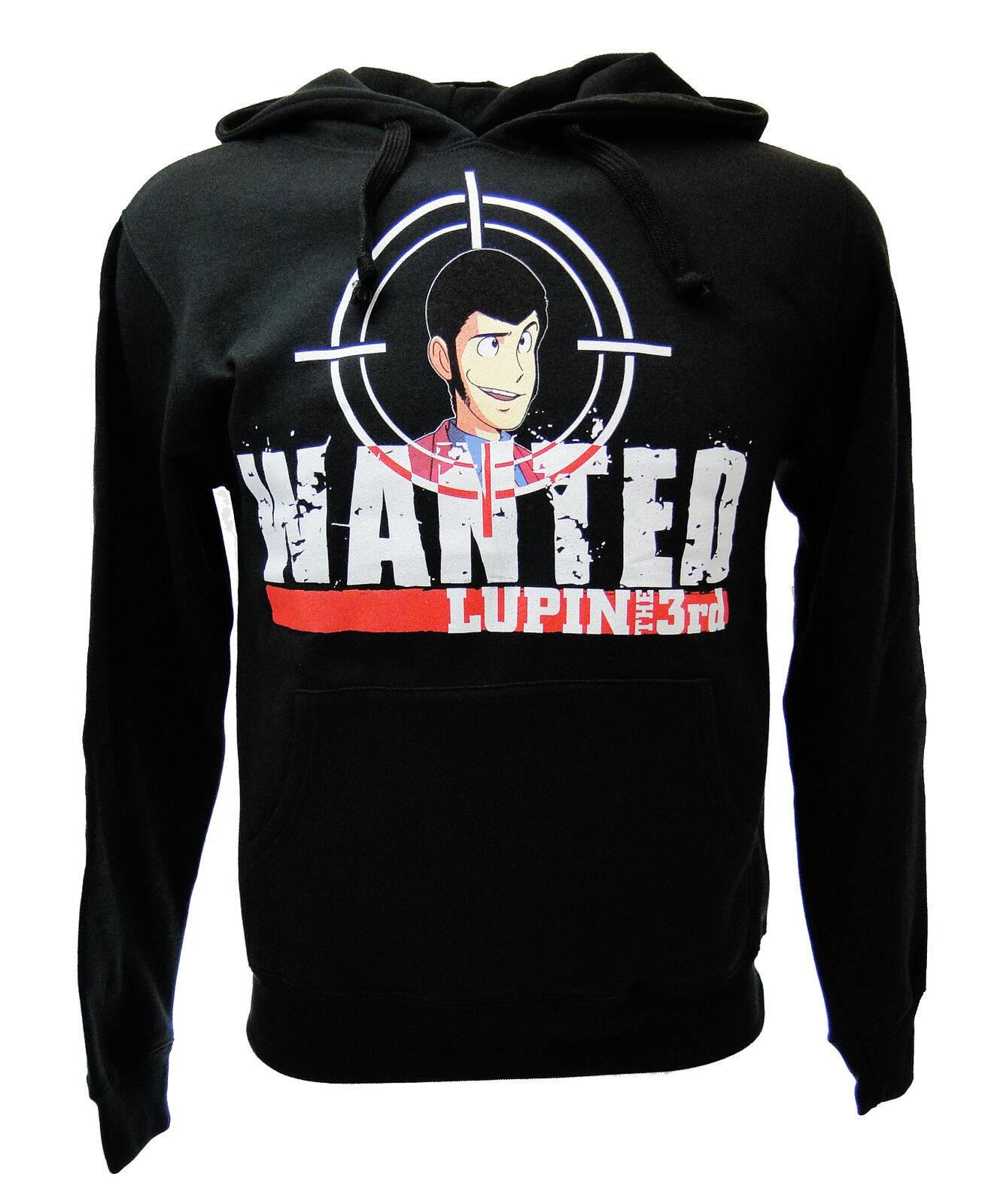 Felpa Lupin III Wanted Wanted Wanted Nera 991fd1