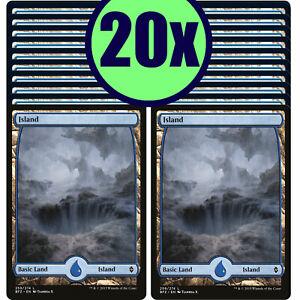 20x ISLAND 259 Full Art Basic Land NM/LP MTG Magic Battle for Zendikar