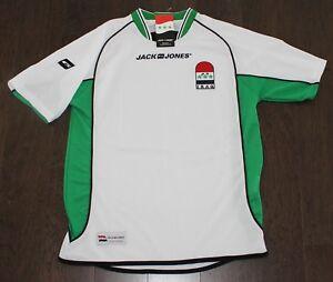 NEW Jack Jones IRAQ Soccer Jersey Adult XS X-SMALL World Cup White ... cf23987aa