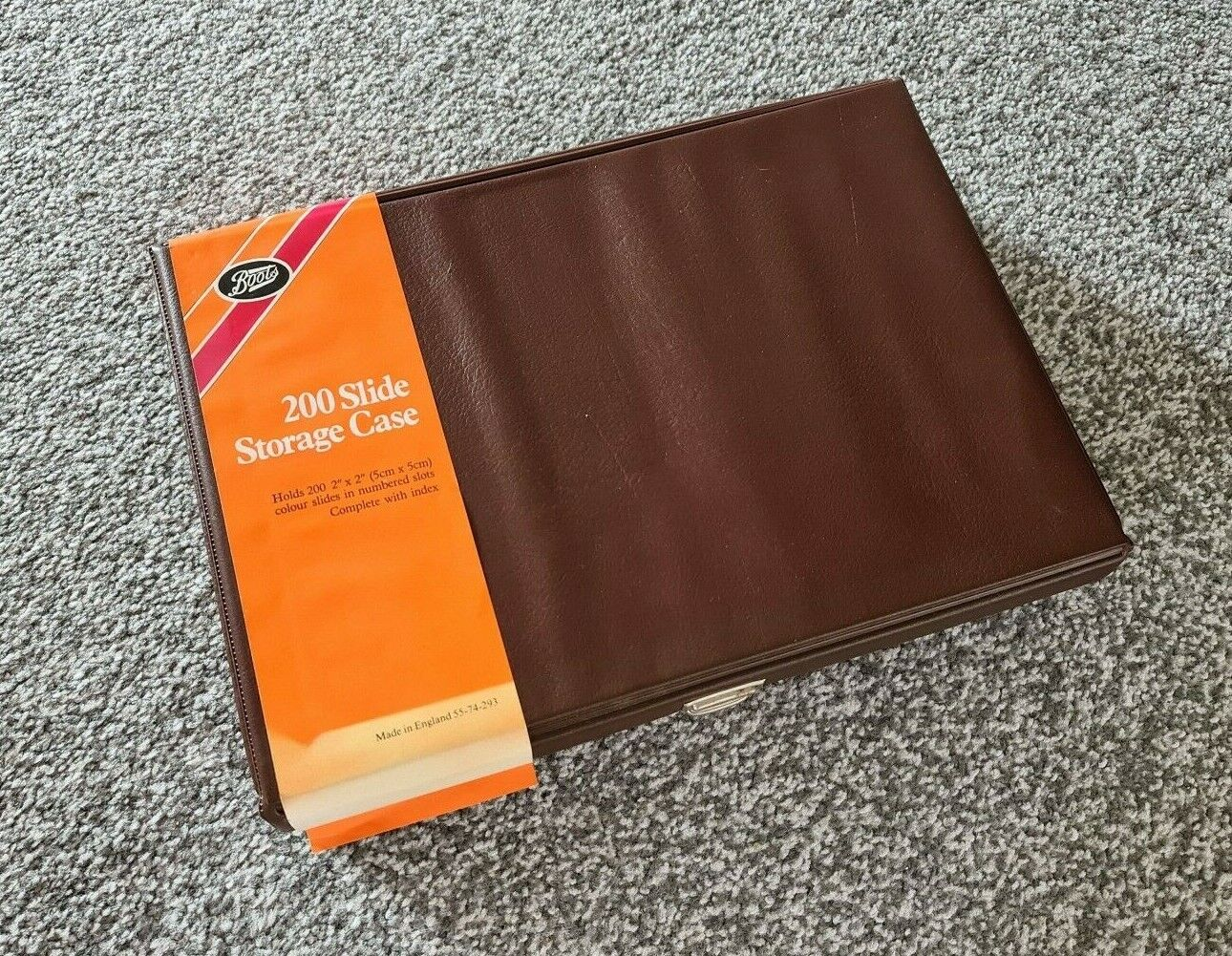 Retro Boots 200 Slide Storage Case, for 5x5 Slides, Made in England