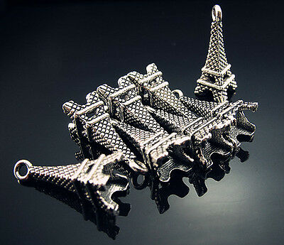 FREE Crafts for Eiffel Tower Tibetan silver Findings Earring Pendant Beads 22mm