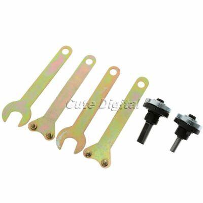 Drill Angle Grinder Mandrel Adapter Disc Holder Kit Spanner Set M10//16mm Hole