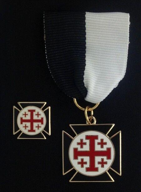 Masonic Knight Crusader of the Cross Jewel & Lapel Pin (KCC-1)