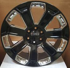 "24"" GMC Yukon Denali Style Wheels Gloss Black Rims Sierra Tahoe Silverado 26"
