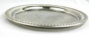 Vintage-Silver-Plated-Drinks-Serving-Tray-Round-Chased-EPNS