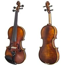 Paititi 4/4 VN08A Flamed Solid Wood Ebony Fitted Acoustic Violin w Case Bow