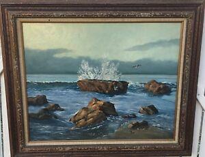 Edward-Karasek-United-States-1909-2009-Impressionist-Seascape-Oil-on-Canvas