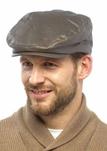 Tom Franks Mens Waxed Lined Flat Cap Adult Hunting Farmers Country Cap Hat M//L