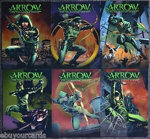 Cryptozoic-Arrow-Chrome-Comic-Book-Covers-Complete-Set-CCC1-CCC6-Trading-Cards