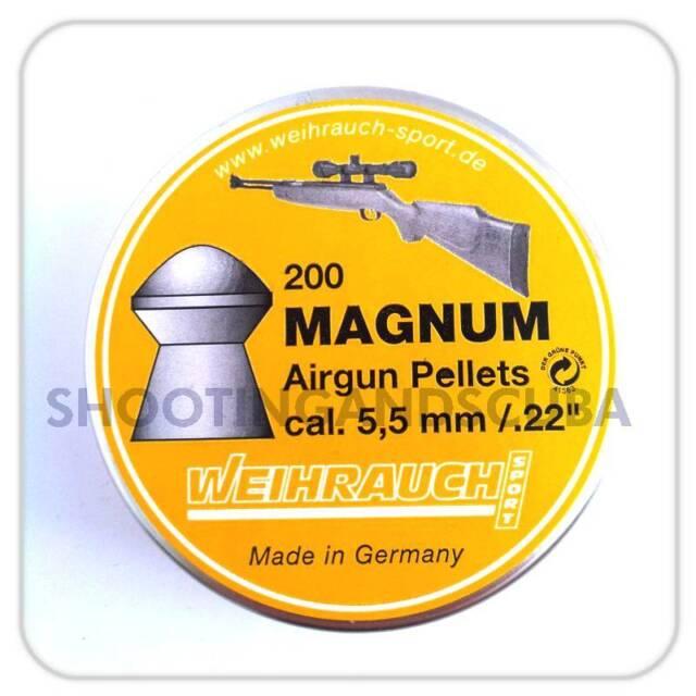 Weihrauch .22 (5.51mm) Field Target Magnum Pellets - 200 for Air Gun Rifle Pisto