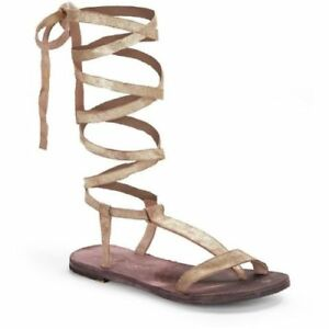 a529b77628c Details about Free People EU 38 Leather Dahlia Lace Up Sandal Sunkissed  Sandal Gladiator