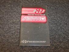 1989 Chevy Astro Minivan Van Owner Owner's User Guide Manual CL CS LT 4.3L V6