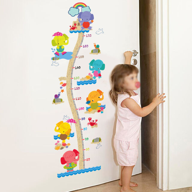 Kids Growth Height Chart Ruler Children Room Decoration Wall Hanging Measure DIY