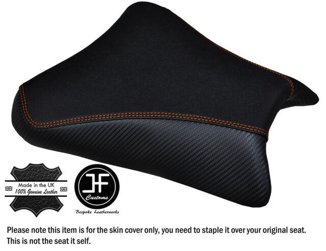 DESIGN 3 GRIP VINYL ORANGE STITCH CUSTOM FITS KTM RC8 FRONT RIDER SEAT COVER