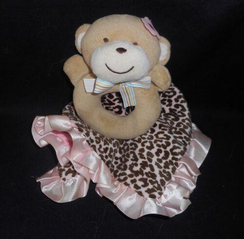 CARTER'S Sicherheit Decke Baby Leopard Affe Rassel Beißring Plüsch Tiemuster Teddys