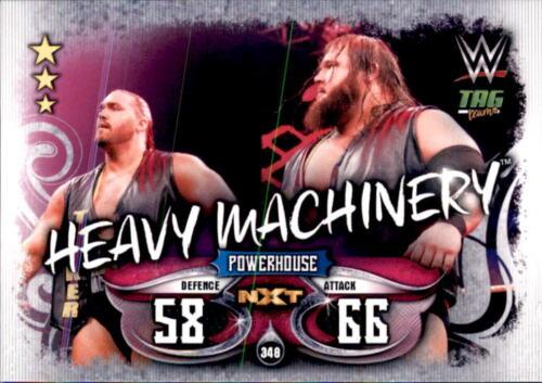 Tag Team Topps Slam Attax Live Karte 348 Heavy Machinery
