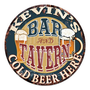 CPBT-0023-KEVIN-039-S-BAR-N-TAVERN-COLD-BEER-HERE-Sign-Father-039-s-Day-Gift