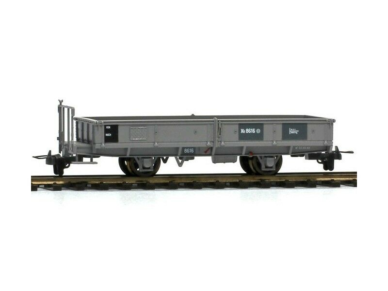 BEMO 2257196 carri merci Carro piatto Madison 8616 servizio FERROVIARIO RHB carrello h0m