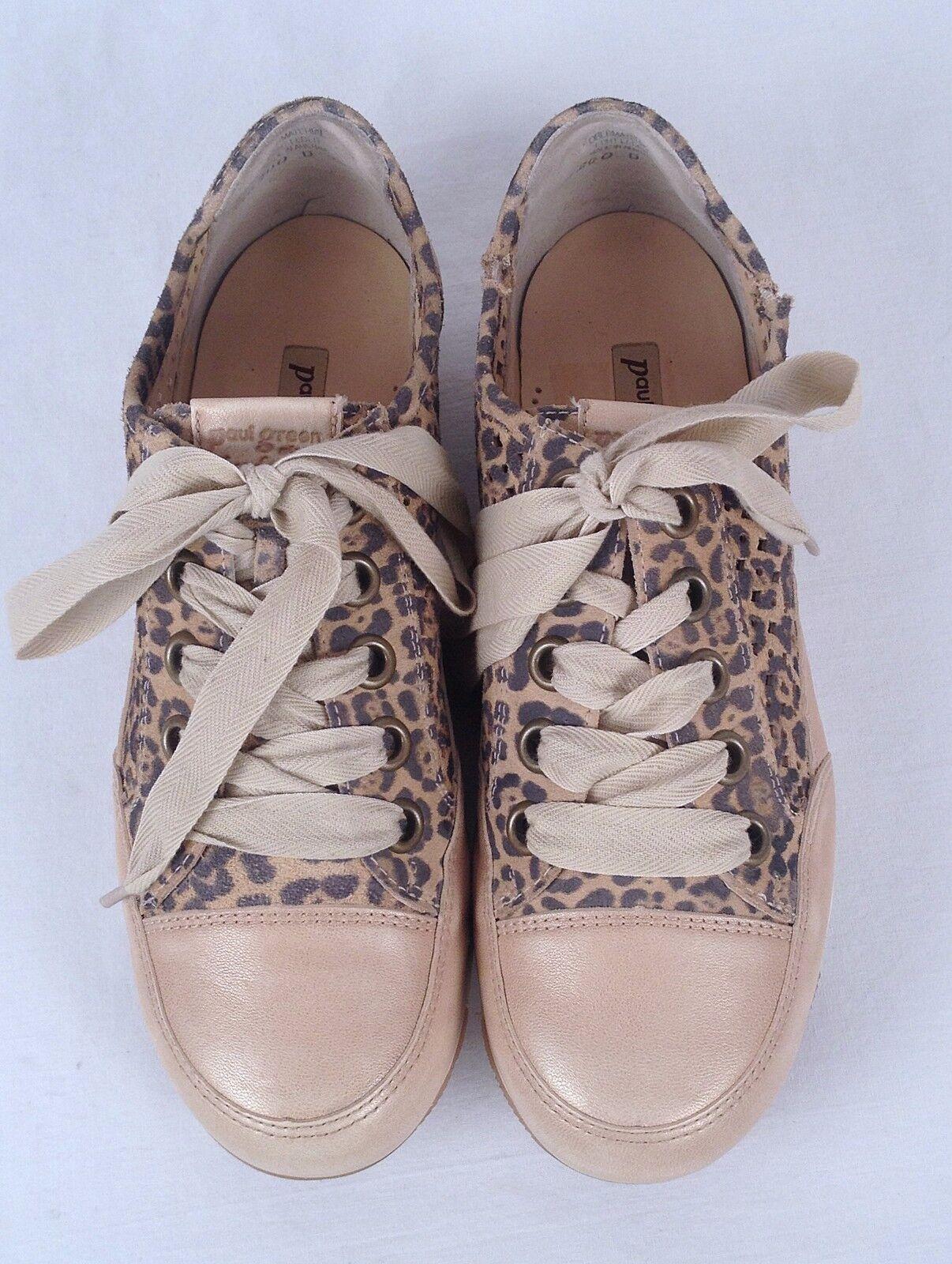 Paul Sneaker Grün Damens Leopard 'Posh' Sneaker Paul -Größe US 6 US/ Aus 3.5- 298  (P1) b95823