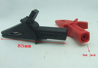 2PCS 80mm copper 32A Alligator clip High Voltage 1kV FOR multimeter test probes