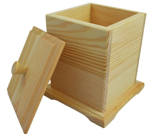 Wooden Box Tea Bags Storage Box Wood Tea Bags Home Kitchen Modern New