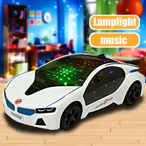 3D LED Flashing Light Car Toys Music Sound Electric Toy Cars Kids Children GiFD
